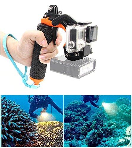 Pistol Trigger set, GoPro Floaty 3 + di immersioni subacquee bastone per selfie con otturatore Trigger sistema perfetto come fotocamera competitivi con GoPro Hero3 +/4 telecamere telaio
