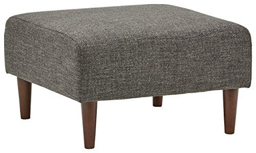 Marchio Amazon -Rivet, ottomana modello Ava, stile mid-century, larghezza 65 cm, colore grigio...