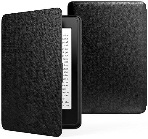 MoKo Kindle Paperwhite Hülle - Ultra Leightweight Schutzhülle Smart Cover mit auto Sleep/Wake Funktion für Alle Kindle Paperwhite (2016/2015), Schwarz