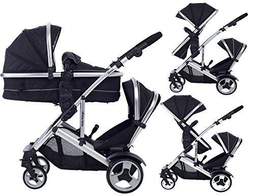 Doppel-Kinderwagen für Zwillinge