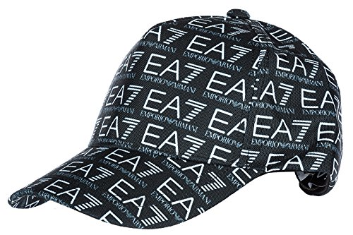 b8abbb3b984 Emporio Armani EA7 adjustable men s hat baseball cap train monogram black