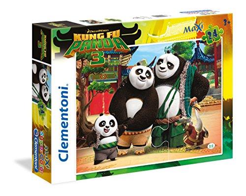 Clementoni 24475 - Puzzle Maxi Kung Fu Panda 3, 24 Pezzi