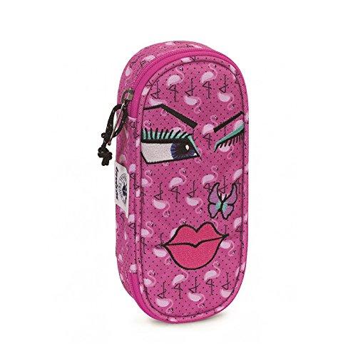 Portapenne INVICTA - LIP PENCIL BAG FACE - Multicolore - porta penne scomparto interno attrezzato