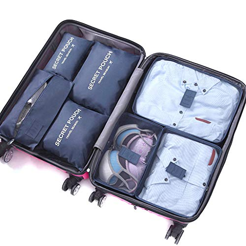 DoGeek - 7pack Organizer Valigia Cubi Organizzatori Organizzatori di Viaggio Cubi Imballaggio Cubi...