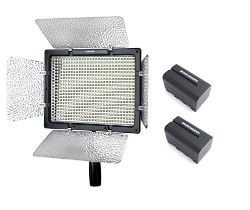 Yongnuo YN-600L II YN600L II LED Video Light 5500K per Canon Nikon DSLR DV e videocamera con 2PCS...