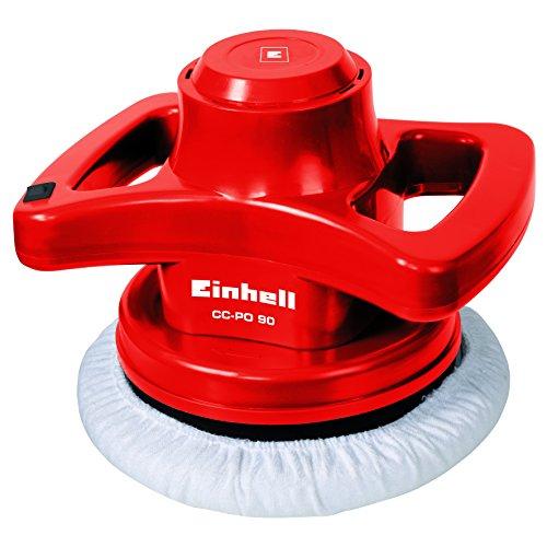 Einhell CC-PO Lucidatrice per Auto con Platorello da 240 mm, 90 W, 3700 RPM, Rosso
