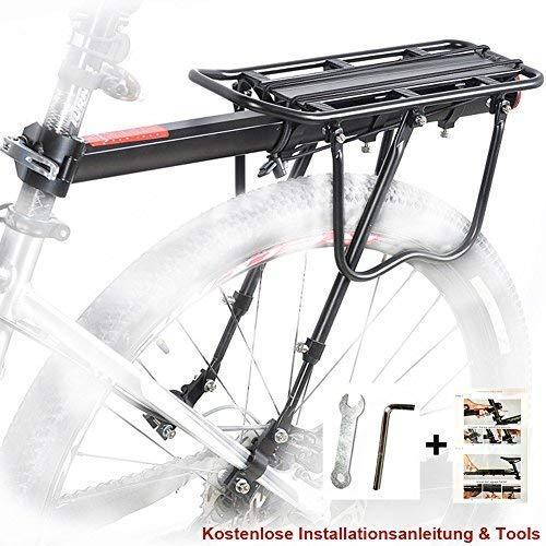 Bicicletta Portapacchi Posteriore, MTB Alluminio Portapacchi Posteriore per Bici Mountain Bike Rack...