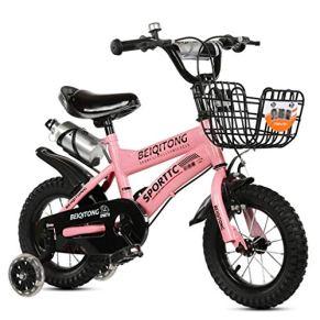 KXBYMX Bicicleta Infantil Carro de bebé de la Bicicleta de los niños de la Muchacha del bebé del bebé 2-4-5-6-7-8-9-10 años de Carro de bebé Bicicleta Estilo Libre niño niña