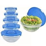 10 tlg. Ciotole Ciotole in vetro con coperchio per ES Set da insalata frischhalten B20