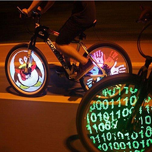 Pesp Cdycam, 128 luci LED RGB, a colori alternati per bicicletta, da montare sui raggi,...