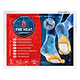 THE HEAT COMPANY Chauffe-Pieds - EXTRA CHAUD - adhésif - 8 heures de chaleur - chaleur immédiate - autochauffante - purement naturel - pour toutes les tailles - 5 paires