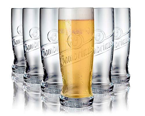 Tivoli Plzen Bicchieri per Birra - 600 ml - Set di 6 – Bicchieri di Alta qualità - Lavabili in lavastoviglie – Bicchieri di Cristallo