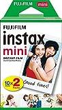 Le film '' instax mini '' convient à tous les appareils Instax Mini. Il offre d'impressionnantes images instantanées que vous pouvez emporter dans votre sac à main, votre portefeuille ou dans un mini cadre photo. Le film Instax assure une reproductio...
