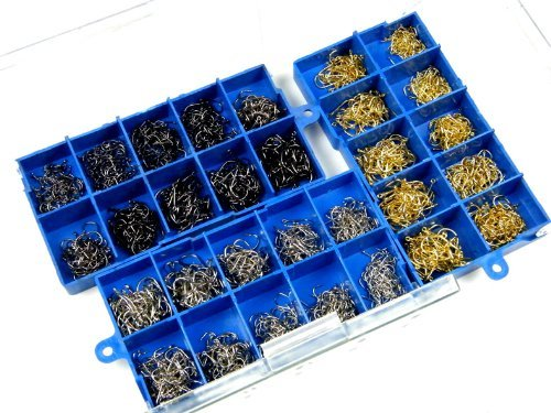 THKFISH  Ami da pesca, 1500 pezzi Nero-Argento-Bronzo # 3 ~ # 12 Ami da pesca in acqua salata Pesca in acqua dolce ami da pesca Set