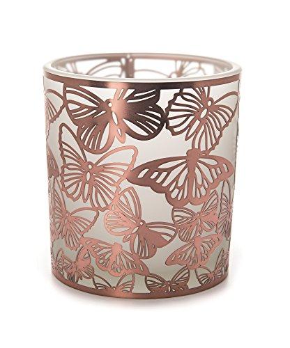 Stylys mariposa filigrana de cobre de cristal vela 7cm soporte para vela de té