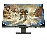 HP 27xq Monitor Gaming TN, Schermo 27 pollici QHD, Risoluzione 2560x1440, Micro-Edge, Tecnologia AMD FreeSync, Tempo di Risposta 1 ms, Frequenza 144 Hz, Regolabile in Altezza, Pivoting 90°, Nero