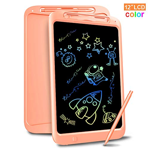 Richgv Tavoletta Grafica LCD Scrittura Digitale, 12 Pollici Colorato Elettronica LCD Writing Tablet,...