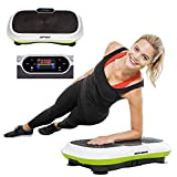 Vibrationsplatte Slim mit Fernbedienung Vibrationsboard mit Farbdisplay und Trainings-DVD