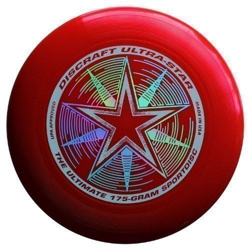 "Discraft Ultra-Star 175g Ultimate Frisbee ""Starburst"" - rojo"