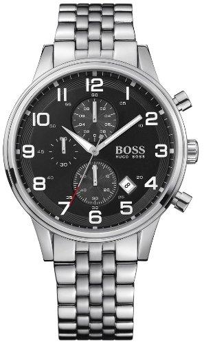 Hugo Boss Herren-Armbanduhr Analog Quarz Edelstahl 1512446
