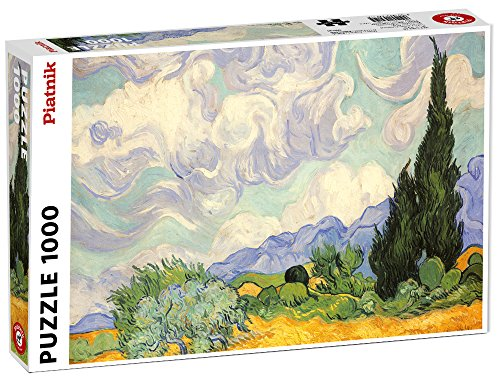 Piatnik Van Gogh Wheat Field with Cypresses Puzzle, 1000 Pezzi