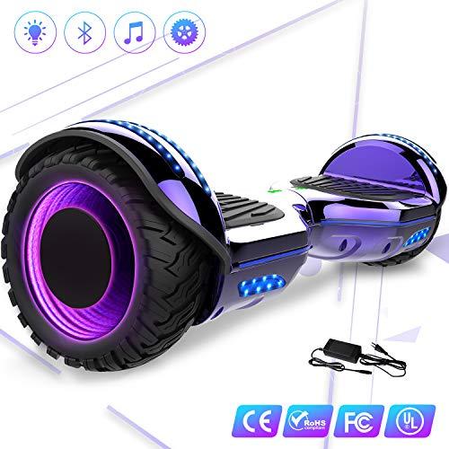 elettrico 6.5'' E-Star Scooter elettrico auto bilanciamento Ruote con LED Altoparlante Bluetooth,...
