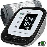 Tensiomètre Bras Electronique, Tensiomètre Numérique Mesure Automatique du Rythme Cardiaque USB Rechargeable Tensiomètre 2 x 90 Mémoire,...