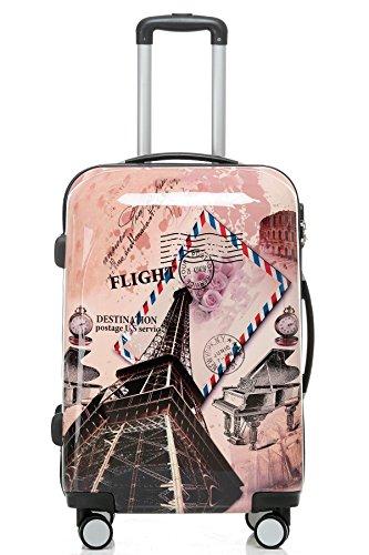 Polycarbonat Hartschale Koffer 2060 Trolley Reisekoffer Reisekofferset Beutycase 3er oder 4er Set in 12 Motiven (Tower) - 2