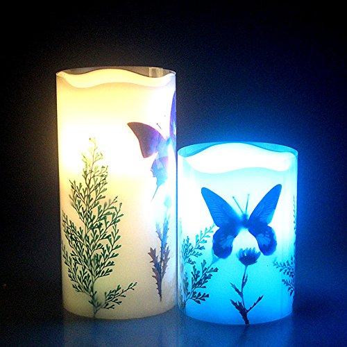 mariposa sin llama de la vela llevó la luz de la lámpara de control / temporizador / control remoto inalámbrico para la decoración casera hotel club / luz de la noche de temporización