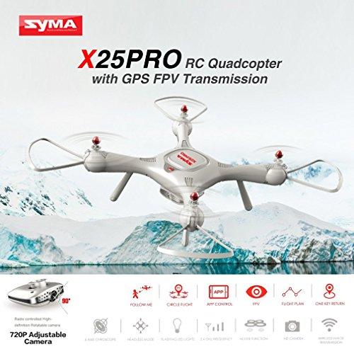 Syma X25PRO RC FPV Quadcopter Drone 720P HD Wifi Telecamera regolabile GPS