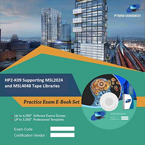 HP2-K09 Supporting MSL2024 and MSL4048 Tape Libraries Online Certification Video Learning Success Bundle (DVD)