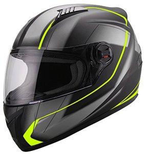 Integralhelm Helm Motorradhelm RALLOX 708 neon schwarz matt Größe S M L XL 2