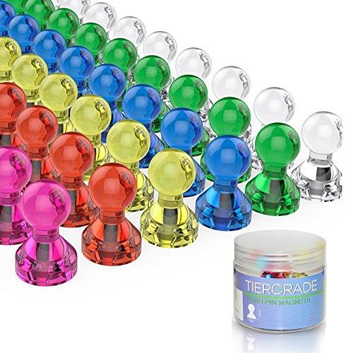 Magneti per frigorifero, Tiergrade magneti magnetici colorati 60 a confezione, 7 colori di magneti...