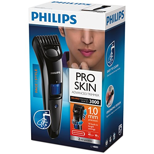 philips beard trimmer cordless for men qt4001 15 buy now. Black Bedroom Furniture Sets. Home Design Ideas