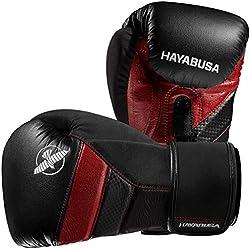 Hayabusa T3 Guantes de boxeo, 12 oz, Negro/Rojo
