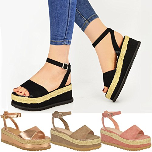 8a77fe9bc8326 Fashion Thirsty New Womens Ladies Chunky Espadrille Strappy Sandals  Flatform Wedge Shoes Size - SixtySomething - Over Sixty Lifestyle Magazine