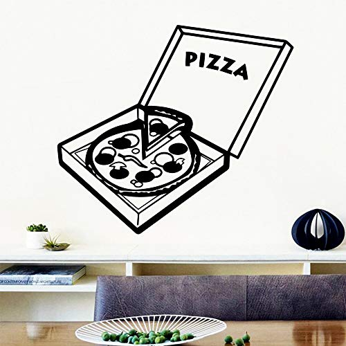 mlpnko Pizza Creativa Decoración del hogar Vinilo Etiqueta de la Pared Sala de Estar Empresa Oficina Escolar Art Deco 30x33cm