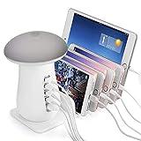 ONLT Lampe de Bureau, Lampe de Table LED,Port USB de Recharge, Touch Control, 3 Niveaux de Luminosité Réglable,Chargeurs de bureau(Gris)