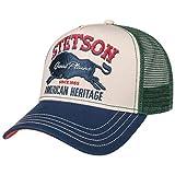 Stetson JBS-Bear Trucker Cap - Baseballcap mit Baumwolle - Basecap mit Markenstickerei - Snapback Cap mit Mesh-Einsatz - Schirmmütze Winter/Sommer - Truckercap