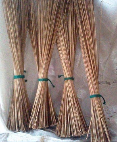 UVA Natural Coconut Broom Sticks for Floor Cleaning (Brown) - Pack of 2