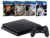 Pack PS4 + FIFA 18 + GTA V + Minecraft  (Digital) + Watch Dogs 2