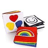 Cisixin Libri di Stoffa Composto da per lo Sviluppo Intellettivo del Bambino - Libri Stampati su Morbida Stoffa Destinati all'attività di Apprendimento dei Bambini in età Prescolare
