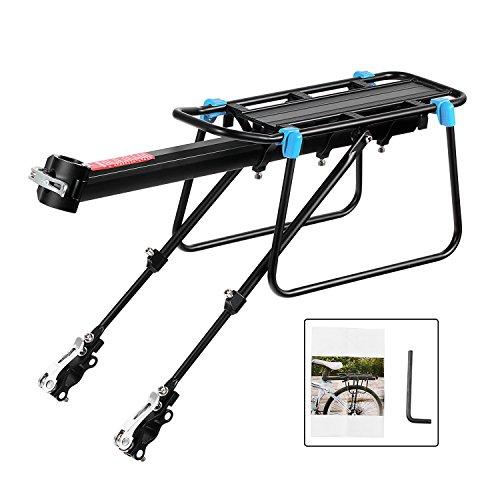 Baiker Universale Portapacchi Bici Alluminio Rack Posteriore Portapacchi Carrier Rack per Biciclette...