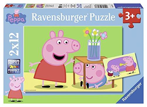 Ravensburger Italy Puzzle Peppa Pig, 2 x 12 Pezzi 07573