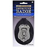 Cops & Robbers Metal Police Officer Detective Badge Fancy Dress Accessory Prop