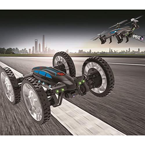 Mallalah RC Drone Voiture 2 en 1Quadricoptère Car Air-Road 2.4G Télécommandé 0.3 MP Caméra WiFi FPV Transmission en Temps Réel Volante Véhic... 8