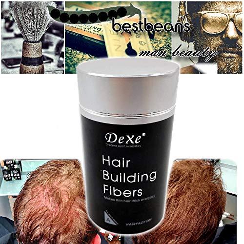 bestbeans Younger Schütthaar zur Haarverdichtung & vollem Haar in Sekunden natürlicher Look - Streuhaar Ansatz-Kaschierung Haarausfall Glatze (Schwarz)