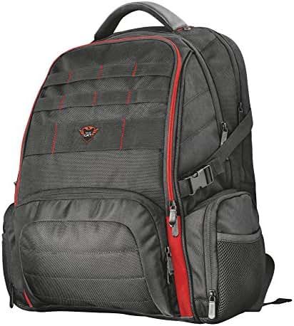 Trust GXT 1250 Hunter Laptop Gaming-Rucksack (geeignet für bis zu 17,3-Zoll-Laptops/Notebook) schwarz