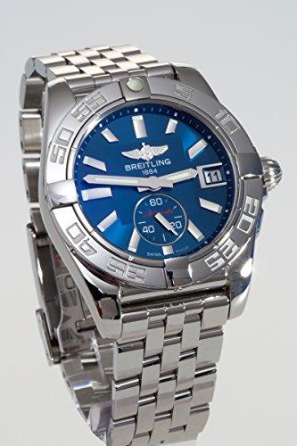 Breitling Galactic 36 Damen-Automatikuhr mit blauem Zifferblatt, Analoganzeige und silberfarbenem Edelstahl-Armband A3733012/C824/376A - 2