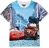 Cars Boys' Animal Print Regular Fit T-Shirt (DCR0005_Multicolour_3-4Y)